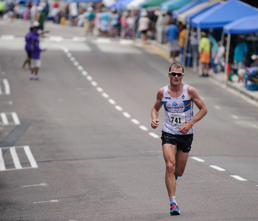 Tyler Butterfield reverts back to the triathlon on Sunday after his May 24 half-marathon success. *Photo by Kageaki Smith.