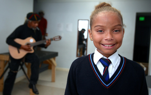 Ten-year-old wows the crowd at Mandela celebration