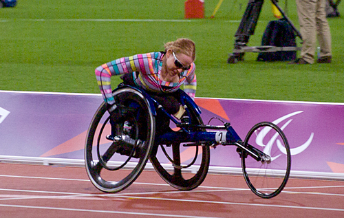 Jessica Lewis at the London 2012 Paralympics. *Photo supplied