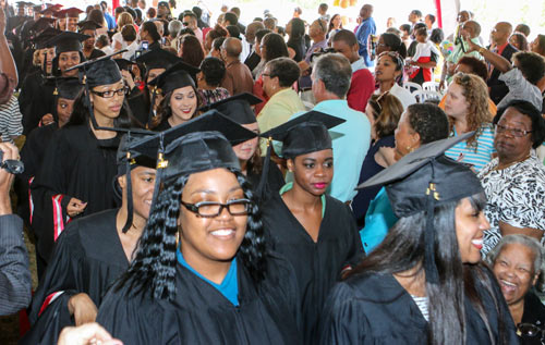 This year's Bermuda College graduation. *File photo