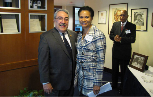 US Congressman GK Butterfield and Cheryl Packwood *Photo supplied