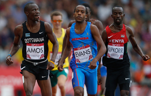 Aaron Evans wins his 800m heat in Glasgow to qualify for today's semi-finals. *AFP photo